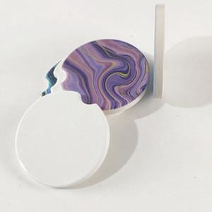 Sublimation Ville Ceramics Coasters 6.6 * 6.6cm TRANSFERT TRANSPRISSION HOT COASTER COASTABLES Consommables Matériaux Prix usine EEA2086-1