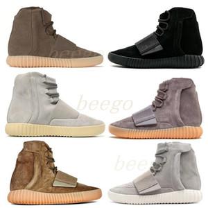2021 Designer Mode Boot Boutine Souris du désert Pratique Noir Kanye 500 Sneakers Gris Gum Homme Mens WestSports Chaussures Marron 750 Sport Bootscefb #