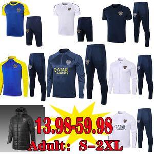 BOCA Juniors Fussball Jersey Pullover Trainingsanzüge Sets 2020 2021 Maradona Tevez Männer Winterjacken Baumwolle-gepolsterte Kleidung Camisetas Training Polo