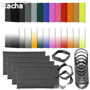 40 in 1 Camera Lens Filter Kit 24 Graduated Full Color nd filter Set 9 Adapter Ring 2 Holder Lens Hood 4 Filter Bag