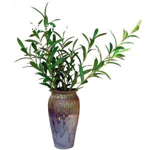 Model Olive Leaf Single Stem Wintergreen Leaf Living Room Flowers Plant Wedding Fake Branch Plug Floral Decorations