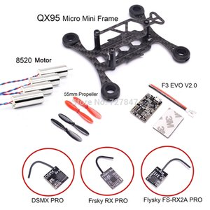 Micro mini QX95 95mm frame FPV RC Carbon Fiber 8520 Coreless Motor F3 EVO V2.0 Brush Flight Control 55mm Prop Frsky RX Receiver 201104