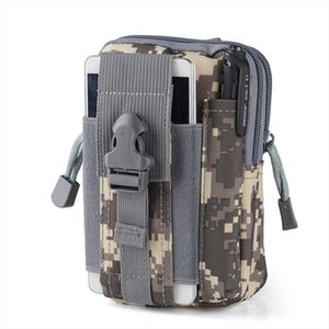 New Mens Nylon Waist Bag Waterproof Camouflage Fanny Pack Tactical Belt Bag Mobile Phone Case Durable Travel Bum for Male
