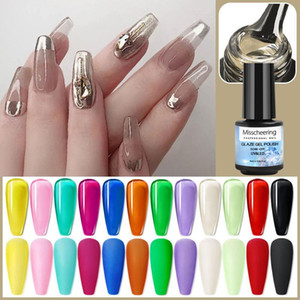 Nail Polish Hybrid Varnish Gel Polish UV Color Gel Manicure Primer Top Coat Amber Wine Red Nail Art Solid Color TSLM1