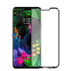 Alcatel 1X Evolve LG v30 V40 v50 stylo 5 tam kapak cam ekran koruyucusu için alcatel V3 2019 ekran koruyucusu tam tutkal temperli cam