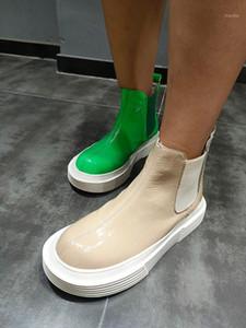 Stivali 2021 Autumn / Winter Platform Moda donna di grandi dimensioni Boots di punta rotonda