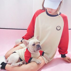 مخطط الحيوانات الأليفة مطابقة الملابس أزياء جرو كلب زي الفرنسية بلدغ الملابس للمتوسط الكلاب الصغيرة معطف ملابس Perro الحيوانات الأليفة الزي T200710