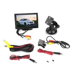 5 in Screen Monitor for Car TFT LCD Monitor 2CH Video Input with 8LEDs Night Vision Waterproof Camera