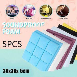 5PCS 30x30x5cm Studio Piano Raumakustik Schall Schaum Schallabsorption Treatment Panel Tile Wedge Schutz Schwamm Aufkleber WlQJ #