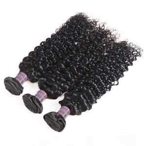 8-28 Brazilian Kinky Curly Body Wave 3 4Bundles With 4x4 Lace Closure Loose Virgin Hair Extensions Deep Wave Human Hair Bundles with Closure