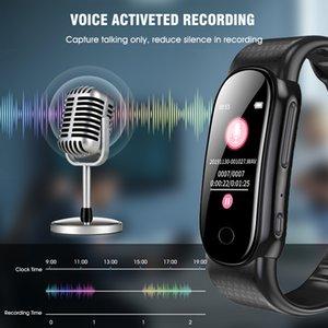 Freeshipping Professional Wearable Pulsera Voice Activated USB PEN 8GB Digital Audio Recorder de voz Pulsera Player MP3 para la conferencia