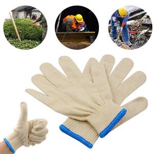 Guantes de protección laboral del hilado de algodón blanco del hilo conductor del sitio Auto Repair trabajo doméstico Herramientas de limpieza