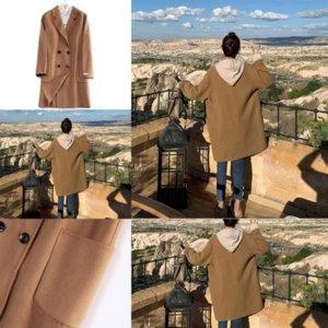 j1u7 Men Loose Windbreaker Thickened women overcoat with designer Jacket Hooded woolen Velvet Trend Printed Casual women Long