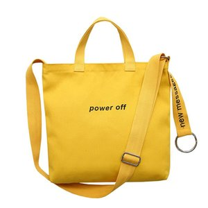 2020 Ladies Handbags Cloth Canvas Tote Bag Letter Printing Shopping Travel Women Eco Reusable Shoulder Shopper Bags bolsas de te