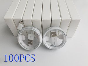 100pcs / lot 6 gerações qualidade Original OEM 1m / 3 pés 2M / 6ft USB Data Sync Charge Cable Com novo pacote