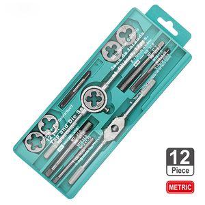 Taper Die lega mano Wire Tap Tap Wrench Die combinazione Tapping Set vite Nastri filettatura per Metal