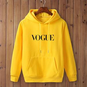 2020 VOGUE New Social Harajuku Hoodies For mens Hooded Tops womens Sweatshirt Long sleeved Winter Velvet Thickening Coat