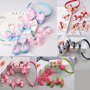 7pcs set Cute Children Hair Accessories Hairband Hairpins scrunchies Baby Girls Lovely Bow Headwear Kids Hair Clip Headband1