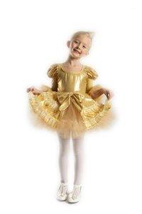 2018real Gymnastics Leotard Child Dance Robe Salle de bal Salle de bal Jupes De Danse Performance Femme Performance Moderne Port Costume Princess Girl Kids1
