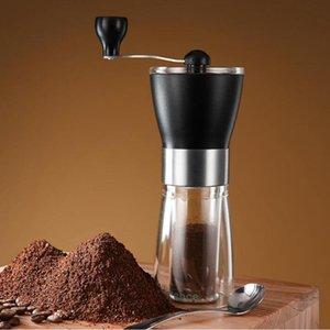 커피 그라인더 수동 세라믹 커피 그라인더 빨 수있는 ABS 세라믹 코어 스테인레스 스틸 홈 주방 미니 수동 coffe 해상 GWD4024