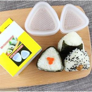 2PCS Set DIY Onigiri Rice Ball Food Press Triangular Maker Mold Sushi Kit Japanese Kitchen Bento Accessories