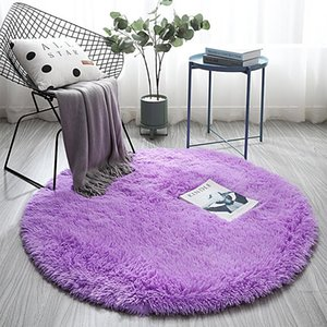 Nordic ins wind round carpet thick sponge baby anti-fall mat bedside carpet thick soft skin-friendly non-odor child crawling rug