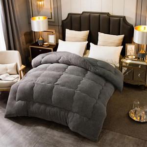 Sonbahar Kış Kalınlaşmak Sıcak Kuzu Yün Yorgan Battaniye Tek Kişilik Kral Kraliçe Yatak Örtüsü Yatak Comforter Hotel Ev Yorganlar