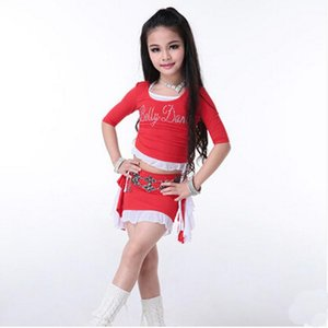 New Arrival 3pcs set kids children bellydancing Set Dresses sexy Bollywood kids girl dancing practicing Clothes Costumes