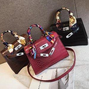 2019 Fashion high-quality female bag classic style Crossbody Bags For Women Leather Handbag Crocodile Shoulder Bag Ladies