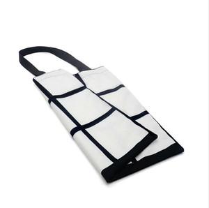Blank Sublimation Grid Taschen Weiß DIY Heat Transfer Sudoku Einkaufstasche Doppelseiten Gridview Reusable-Speicher-Beutel-Handtaschen F102001