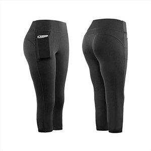 Leggings Sport Women Fitness High Waist Stretch Athletic Gym Leggings Running Sports Pockets Active Pants For Cell Phone Pants
