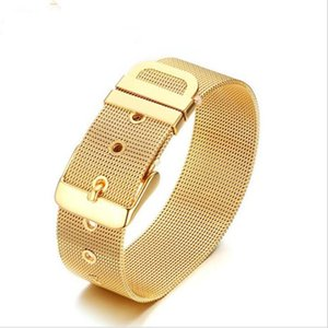 BC NEW Watch band Stainless Steel Bracelet With Gold President Strap Adjust Bangle