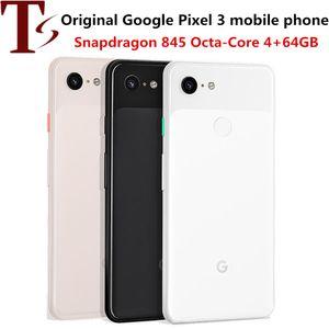 refurbished Google Pixel 3 Octa Core 5.5 Inch Single SIM 4G LTE 4GB RAM 64GB ROM 12MP Camera Android Original Unlocked Smartphone