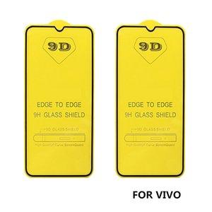 Cubierta de la pantalla completa 9D vidrio templado Protector AB pegamento borde a borde para vivo x23 x30 y5s y9s IQOO y3 s1 Z5 Z6