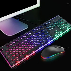 Russian Backlit Gaming Keyboard Mouse Set RGB Optical Light Computer Laptop Wired Keypad Mice Kit1