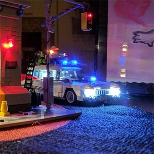 LED Light Kit (only light included )for 21108 blocks set Compatible with Ghostbusters Ecto-1 bricks (Car Not Included) LJ200925