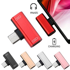 USB C Audio Cable Charger 2in1 Type-C to Type-C Jack Aux Earphone Adapter For S10 S20 Pro Max2 USB-C Type C Converter Adapter