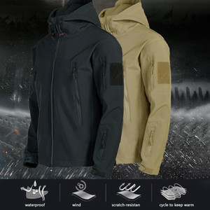 New Inverno Jakets quentes para Coats Escalada Homens Waterproof cor sólida manga comprida Zipper moletom com capuz Windbreak Masculino Caminhadas