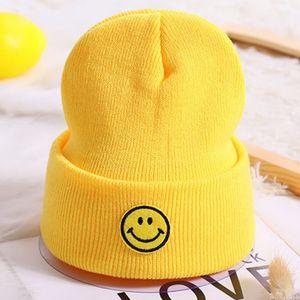2-5yrs Kids Winter Hats Cute Knitted Beanies for Boys Girls Yellow Pink Black Orange Green
