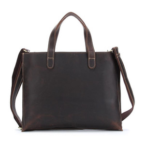 Genuine Leather Men Briefcase Office Handbags for Men Shoulder Messenger Bag Leather Briefcase Male Laptop Computer Bags