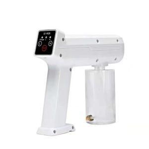 Factory Wholesale Blue Light Nano Disinfectant Sprayer Touchscreen Control USB Charging Portable Cordless Air Sterilization Fogger Machine