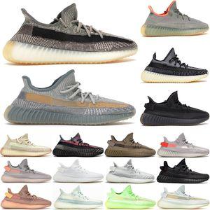 Kutu US5-13 ile Kanye West Eliada Karbon Zyon Yecheil Siyah Zebra Krem Beyaz Womens Koşu Ayakkabı Spor büyük beden des chaussures