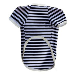 Brand New 2015 Pet Clothes Puppy Dog Cat Vests Shirt Apparel Costume Stripe T Shirt Free Shipping L015