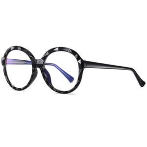 2020 óculos de sol Mulheres Round Light Blue bloqueio UV400 Óculos Prescripition Óculos Temple vidro óptico de óculos de sol Mulheres