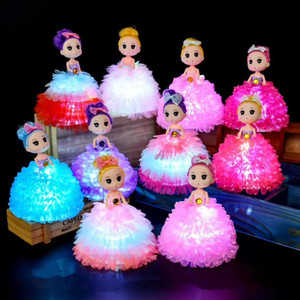 LED Girl Doll Children Ornaments Luminous Princess Children Birthday Gifts Kid Toys Party Favor LED Toys XD24495