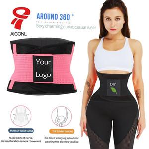 Aiconl Bel Trainer Shaper Kemeri Karın Kontrol Özel logo Silmming Kemer Sauna İnce Göbek Bandı Spor Shaper Kuşak Corset Sweat