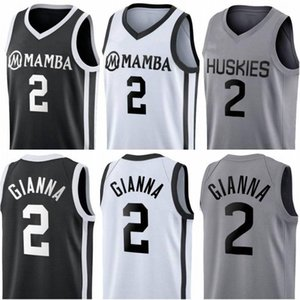 Novo Costurado Gianna Maria Onore Jersey Uconn Huskies Huskies Especial Tributo College 2 Gigi Mamba Memorial Basketball Jerseys