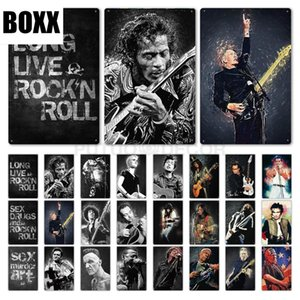 Rock Roll Tin Sign Vintage Metal Poster Plaque Metal Wall Decor Living Room Man Cave Club Decorative Plate