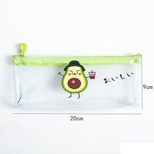 2020 New 1 Pcs Pencil Case Avocado School Pencil Box Pencilcase Pencil Bag School Supplies Stationery