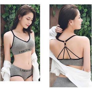Pedler Moda Sütyen Külot Kadınlar Dikişsiz Lencería Push Up Bralette Aktif Bra ve Külot Set Sports iç çamaşırı ile İç Takımları